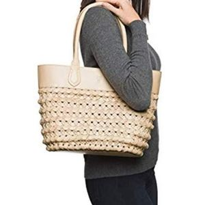 NWT Frye Natural Woven Tote Purse